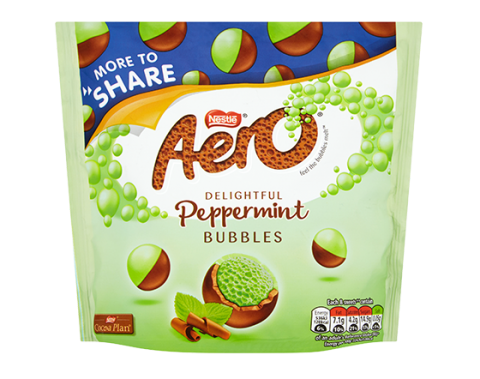 Aero Bubbles Peppermint Mint Chocolate More To Share Pouch 219g
