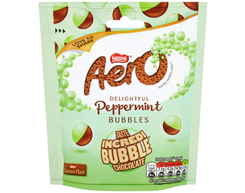 Aero Bubbles Peppermint Mint Chocolate Sharing Pouch 102g